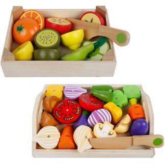 Produktbild für Holz Gemüse/Früchte Set - Geschenke, Gadgets und Geschenkideen