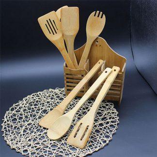 Produktbild für Holzkellen Set aus Bamboo - Geschenke, Gadgets und Geschenkideen