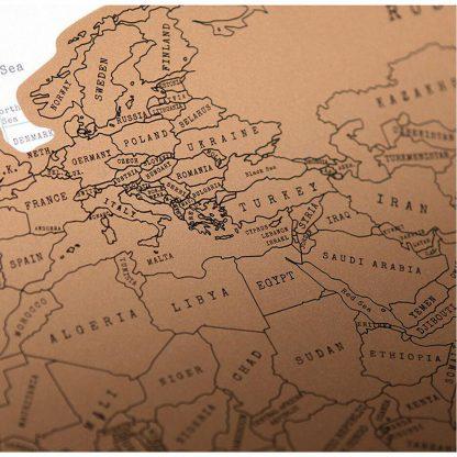 Produktbild für Weltkarte zum Aufrubbeln - Geschenke, Gadgets und Geschenkideen