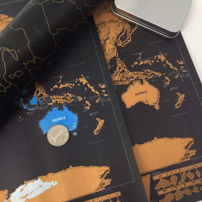 Produktbild für Weltkarte zum Aufrubbeln Deluxe - Geschenke, Gadgets und Geschenkideen